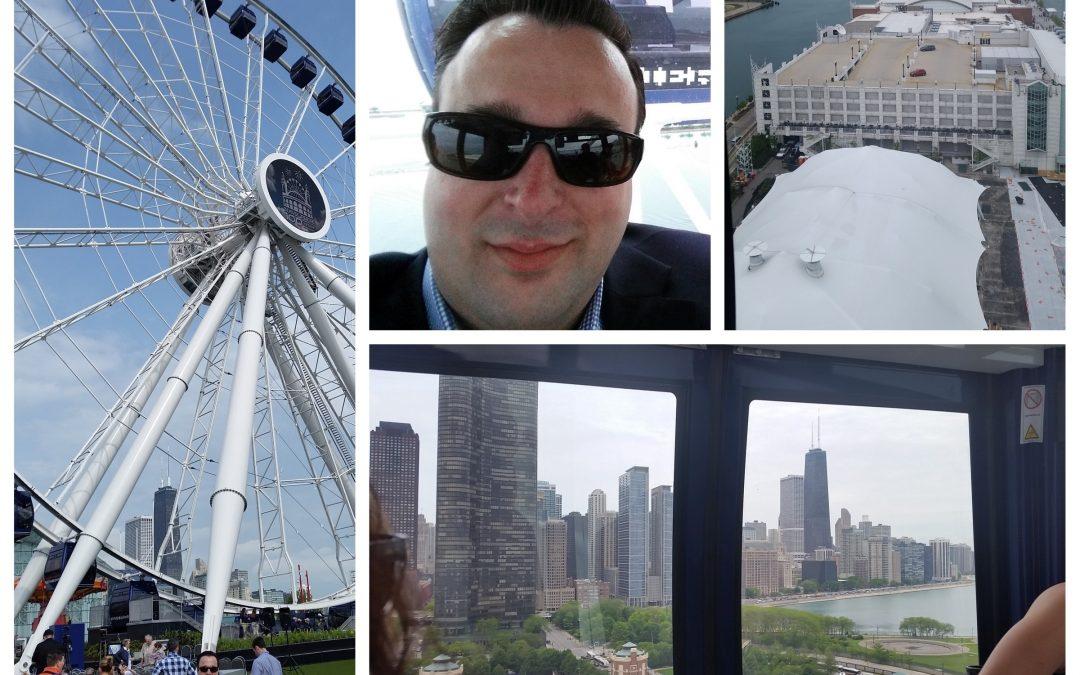 Navy Pier Centennial Wheel first ride