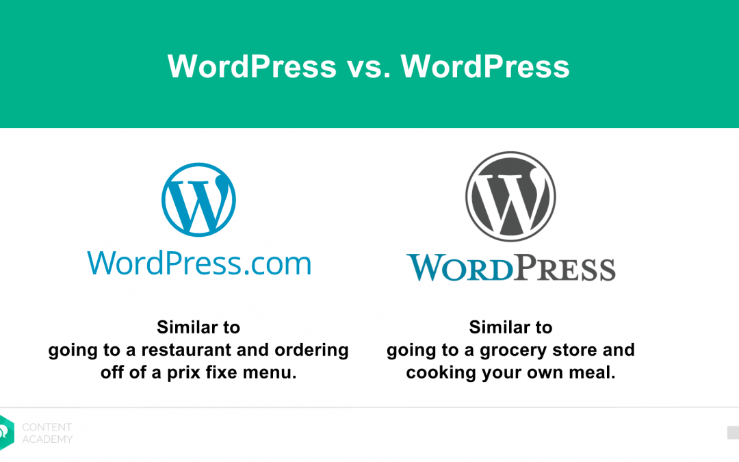 What's the real difference between WordPress.com and WordPress.org?