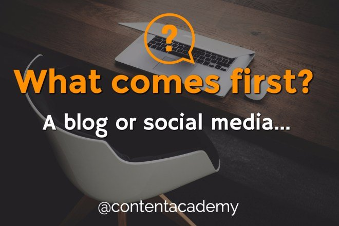 begin with blogging or social media